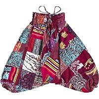 Lofbaz Pantalones Harem con Parche Infantil