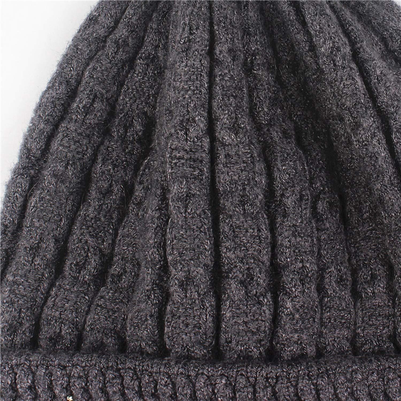 Ablaze Jin Girl Skullies Beanies Glittering Rhinestone Knitted Gorro Wool Female Hats