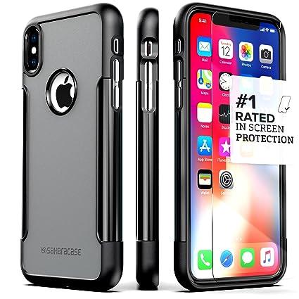 Amazon.com: SaharaCase - Carcasa protectora para iPhone X ...