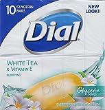 Dial Glycerin Soap, White Tea and Vitamin E, 10 Count