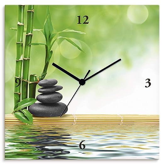 Reloj De Pared Digital de impresión sobre lienzo sobre marco ...