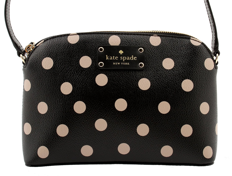 Kate Spade New York レディース B01J0HGWJ6 黒 水玉 黒 水玉
