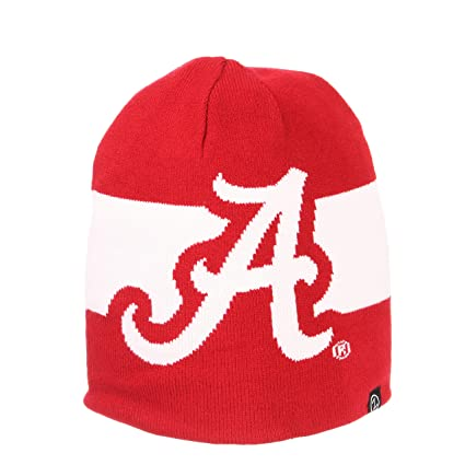 Image Unavailable. Image not available for. Color  Alabama Crimson Tide  Official NCAA Inverse Reversible Knit Beanie Sock Hat by Zephyr 694770 5f9510ee7975