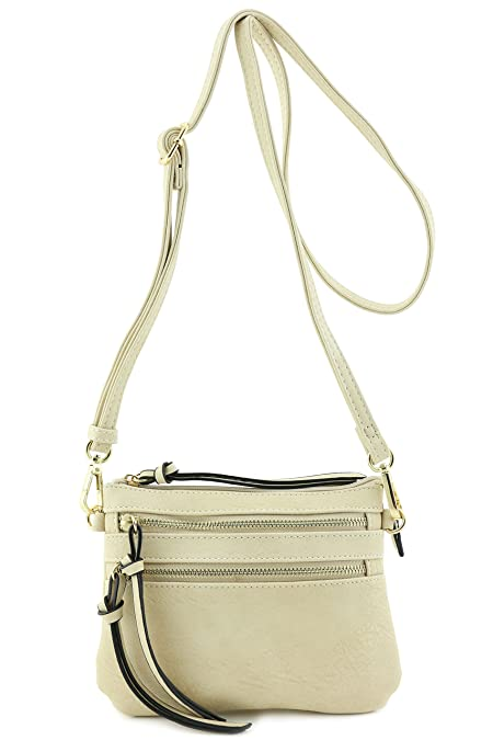 Multi Pocket Small Crossbody Bag (Beige)  Handbags  Amazon.com 6287c05adad8a