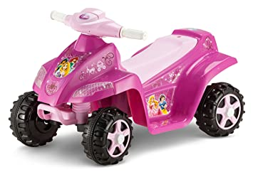 Amazon Com Kid Trax Disney Princess 6v Toddler Quad Ride On Pink