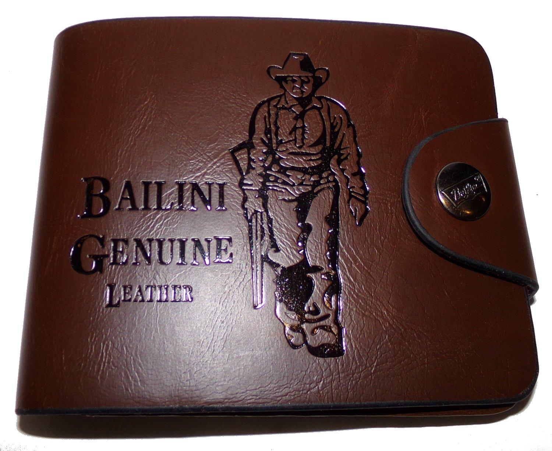 Bailini - Cartera para hombre Hombre marrón marrón oscuro: Amazon.es: Equipaje