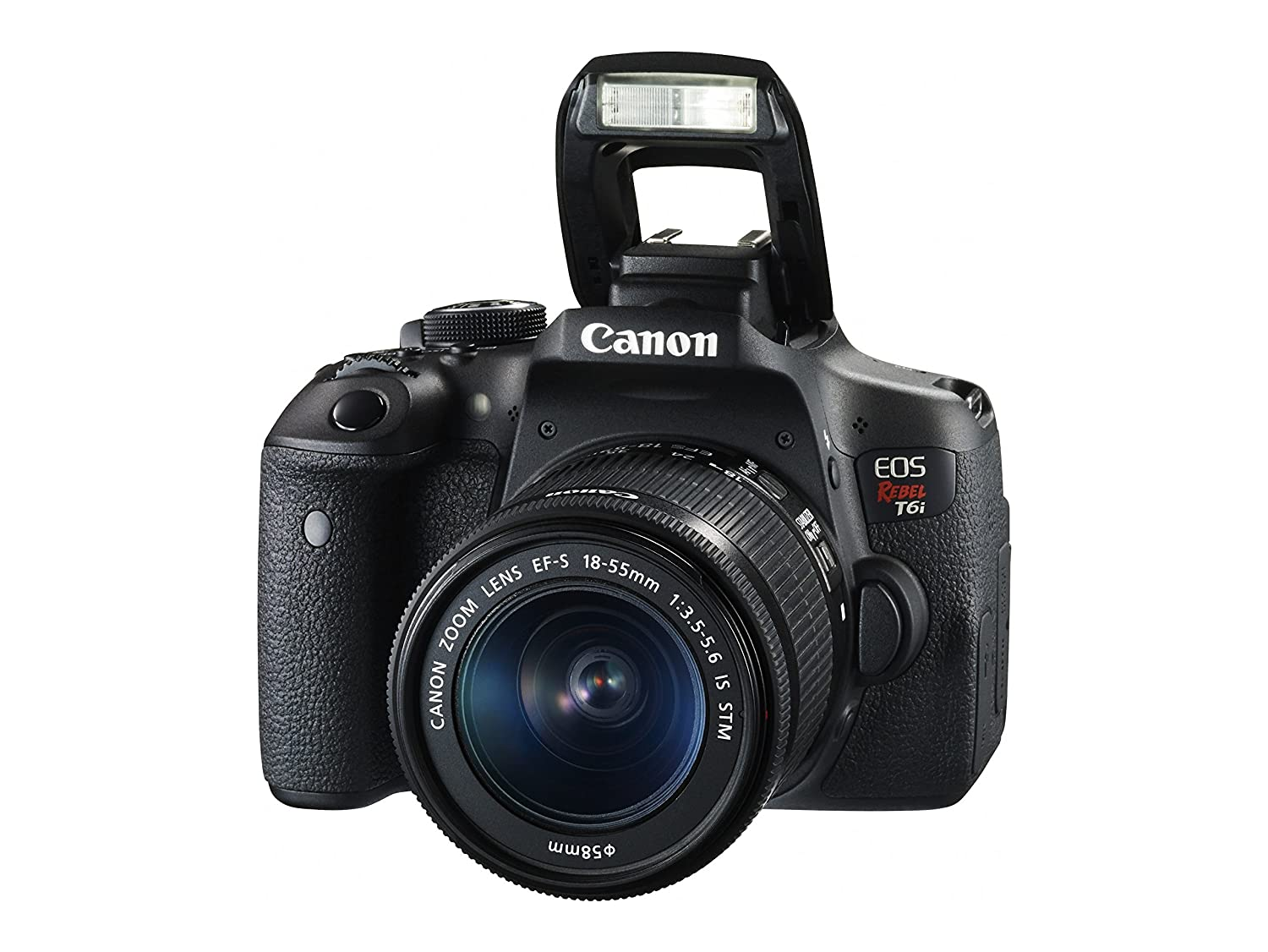 Amazon.com : Canon EOS Rebel T6i Digital SLR with EF-S 18-55mm IS STM Lens - Wi-Fi Enabled