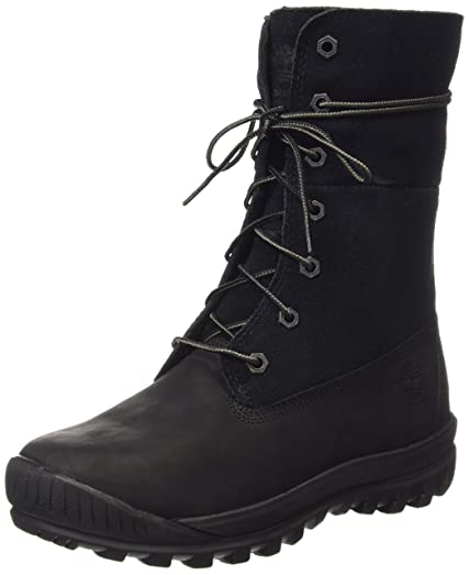 Woodhaven Roll Down Women US 8.5 Black Winter Boot