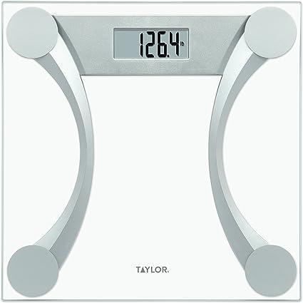 Taylor Precision Products Glass Digital Bath Scale Clear