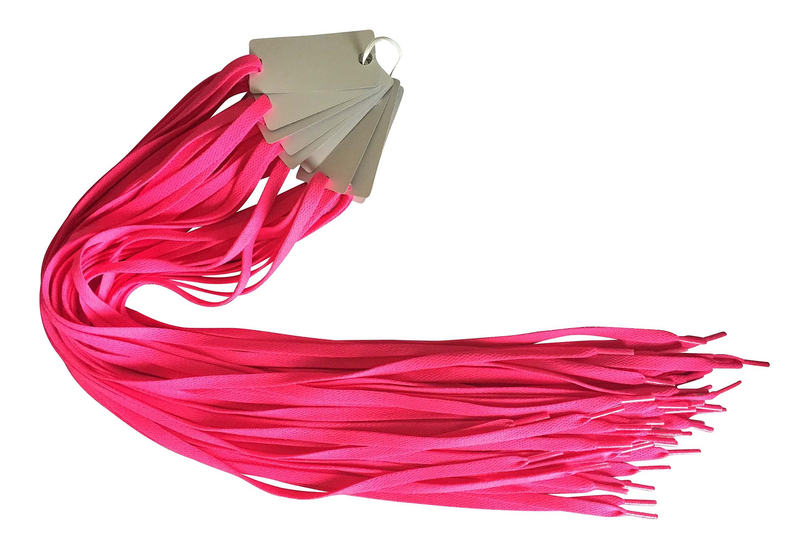 Neon Pink 10 Pairs Athletic Flat 8mm Shoelaces Bulk Lot (Breast Cancer Awareness) - 45''