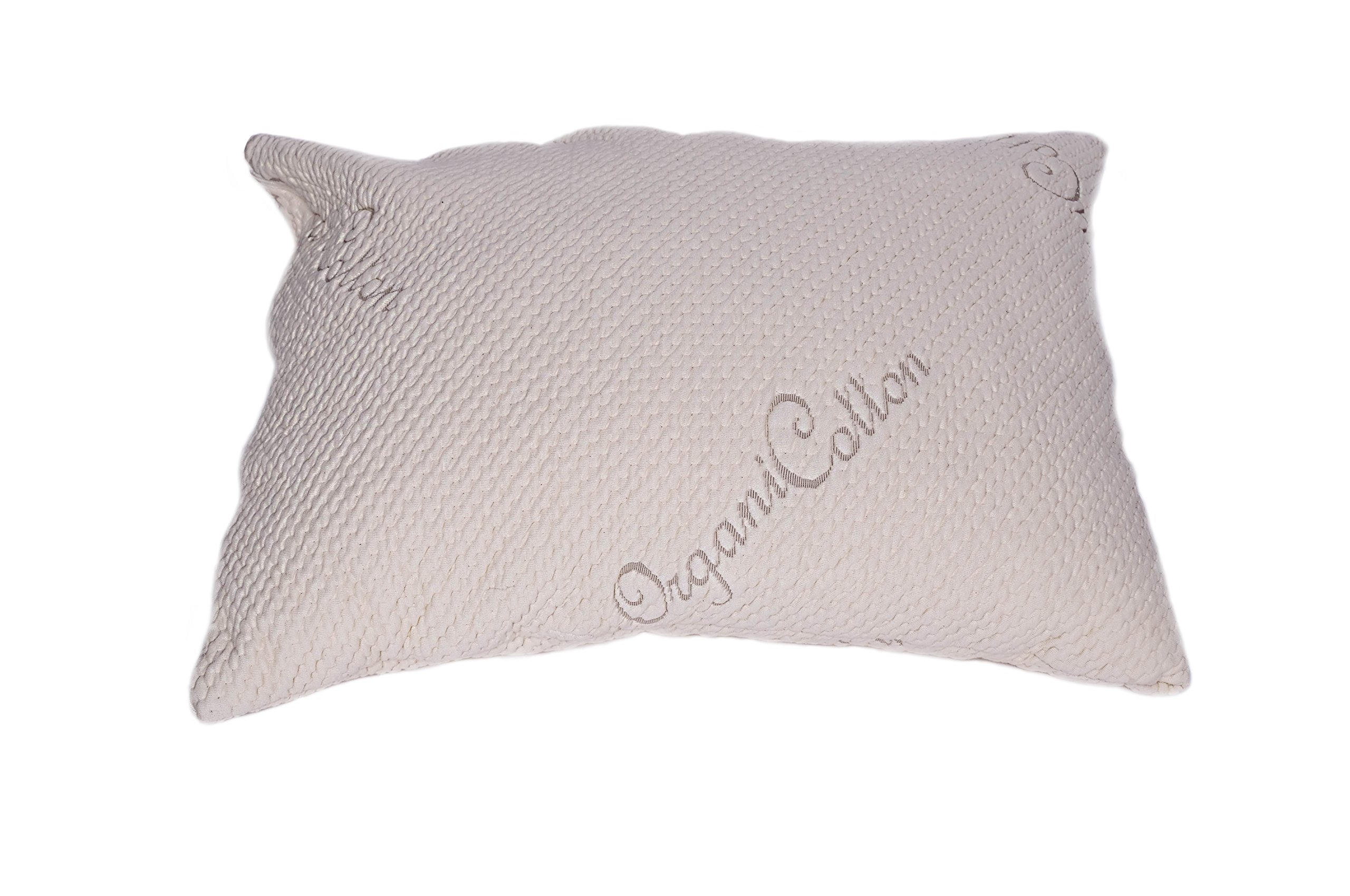 V&R Natural Queen Pillow - Organic Cotton Cover - Fill Latex Noodles (100%)