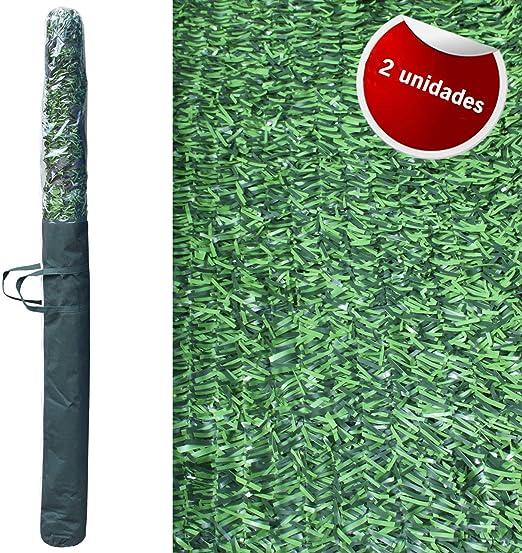 Pal Ferretería Industrial 2 Rollos de seto Artificial ignífugo Verde de ocultación 3x1.5 m: Amazon.es: Jardín