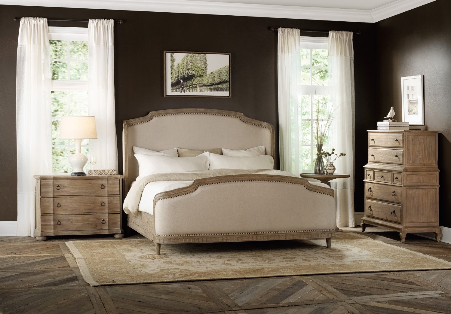 hooker bedroom furniture. Amazon com  Hooker Furniture Corsica King Upholstered Shelter Bed in Light Natural Kitchen Dining