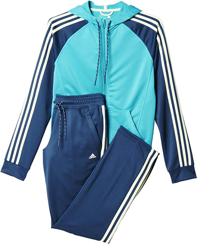 adidas New Young Knit Tracksuit Trainingsanzug Damen
