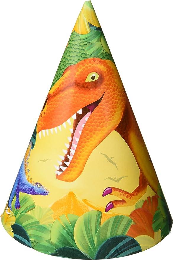 Dinosaur Party Hats (pack of 8) (gorro/sombrero): Amazon.es: Juguetes y juegos