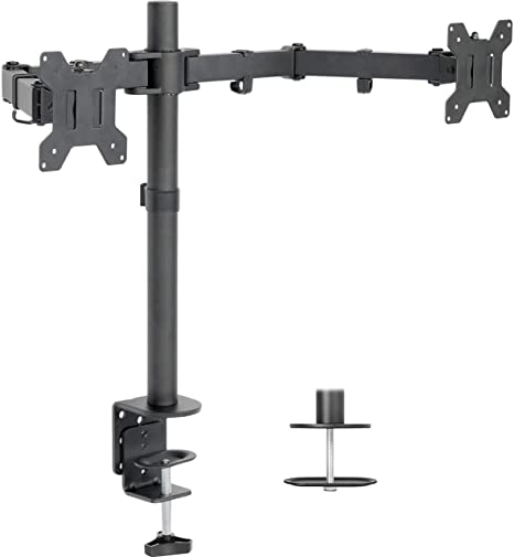 Brilliant Vivo Dual Lcd Monitor Desk Mount Stand Heavy Duty Fully Adjustable Fits 2 Two Screens Up To 27 Stand V002 Download Free Architecture Designs Intelgarnamadebymaigaardcom