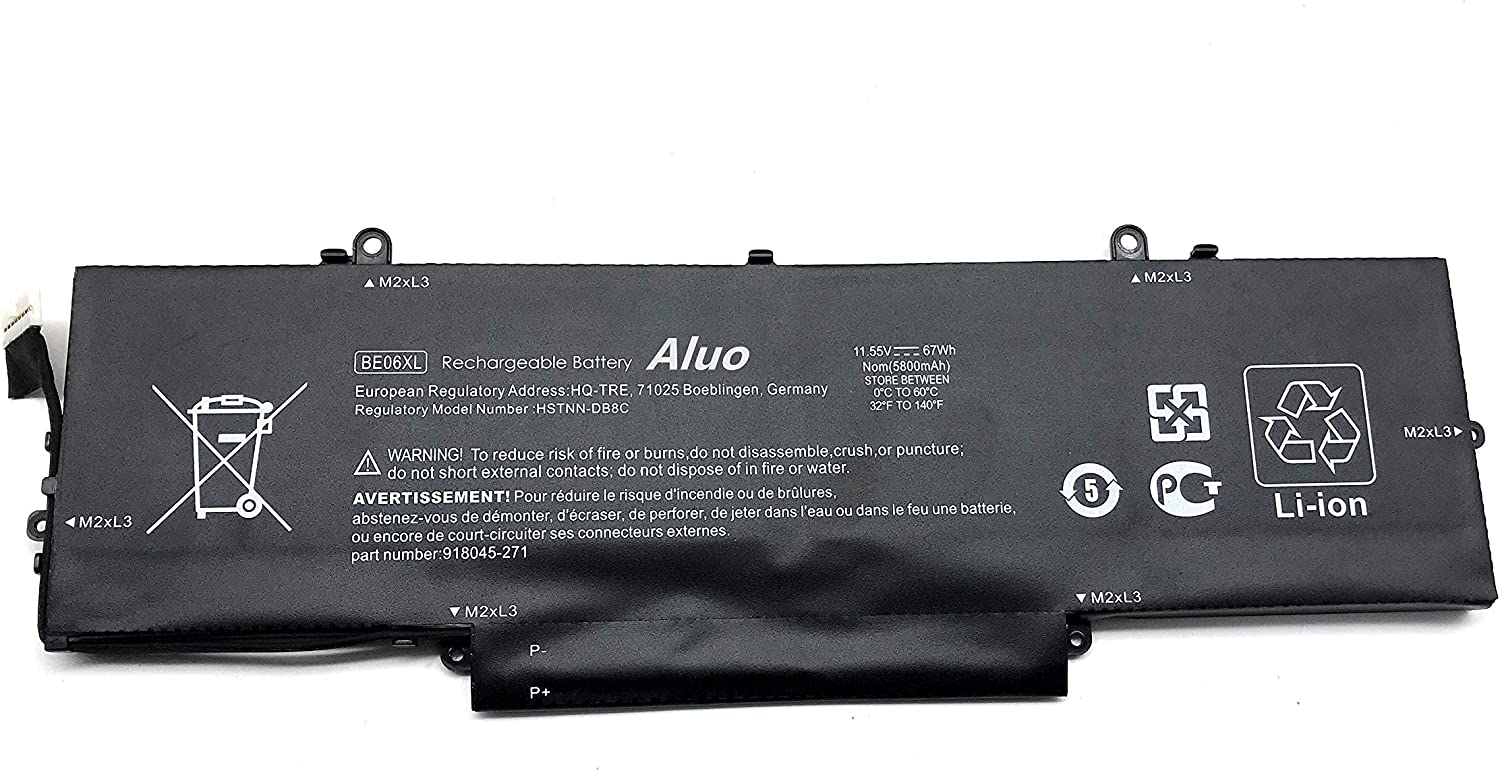 Aluo BE06XL 11.55V 67Wh Laptop Battery for HP Elitebook Folio 1040 G4 918045-1C1 918180-855 HSTNN-DB7Y HSTNN-IB7V