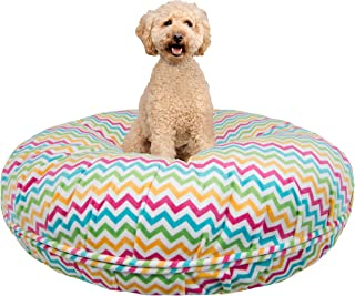 product image for BESSIE AND BARNIE Signature Ocean Wave Luxury Extra Plush Faux Fur Bagel Pet/Dog Bed (Multiple Sizes)