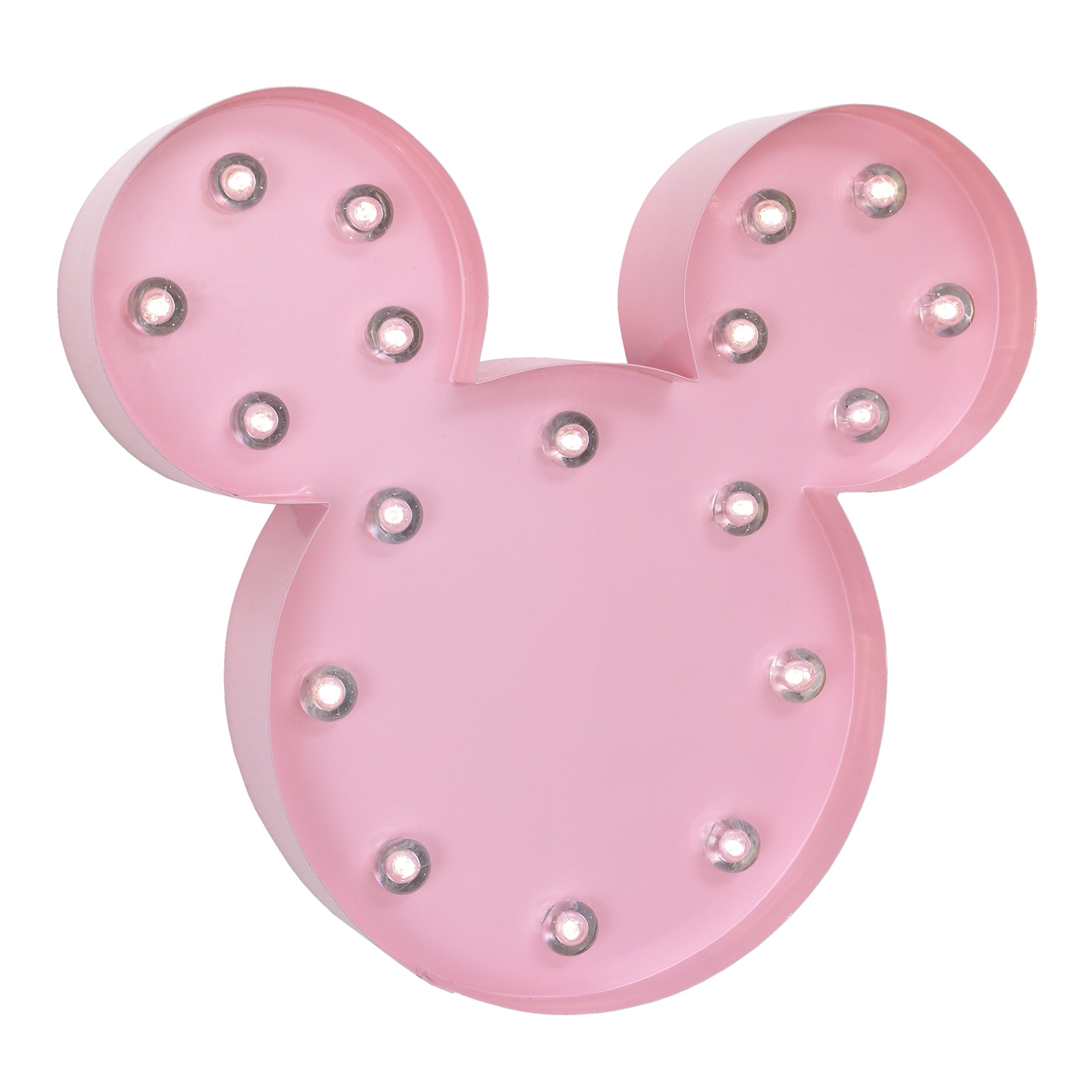 Disney Minnie Mouse Light Up Nursery Wall Decor with 2 Hour Timer, Pink