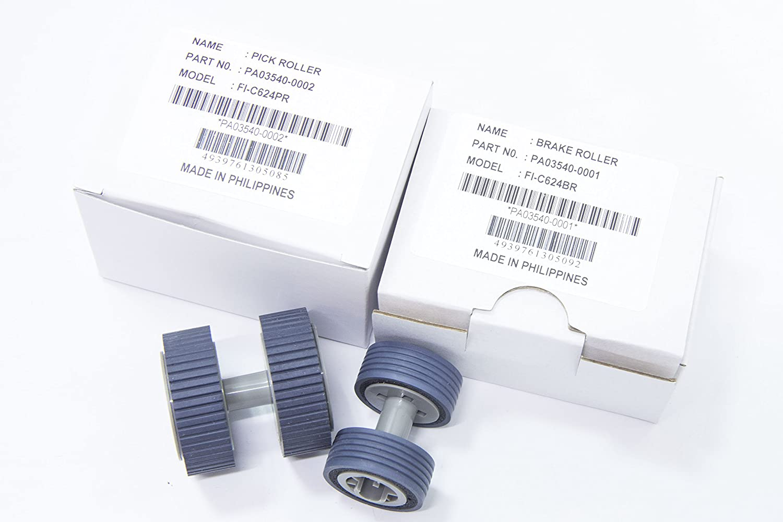 Yanzeo PA03540-0001 PA03540-0002 Bremsenpickup Roller f/ür Fujitsu Fi-6125 Fi-6225Fi-6130 Fi-6130z Fi-6140 Fi-6140Z Fi-6230 Fi-6240Z mit sauberem Tuch