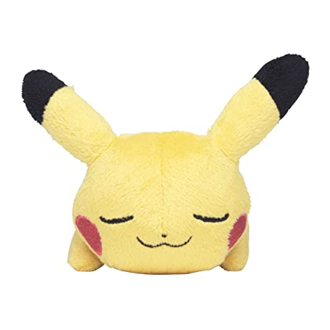 Pokemon Center Original Kuttari Pluch Pikachu Good Night