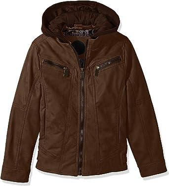 Urban Republic Boys Pu Suede Moto Faux Leather Jacket