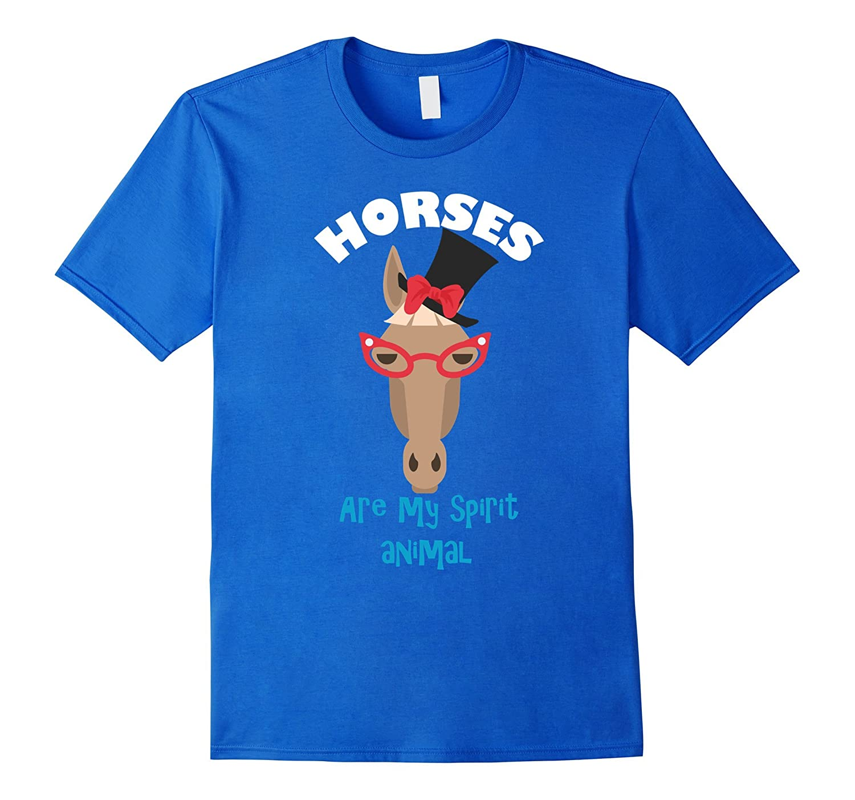 1e3282648 Horse T-Shirt Funny Horses Are My Spirit Animal T-Shirt-TD – theteejob