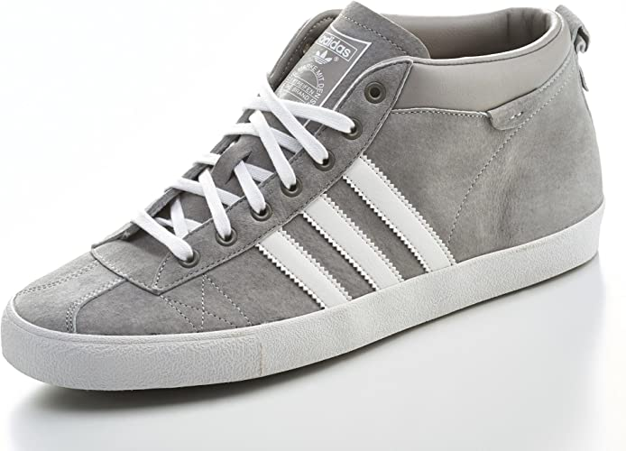 adidas Originals Gazelle 50S Mid Chaussures Mode Sneakers Homme Cuir Suede Gris Blanc