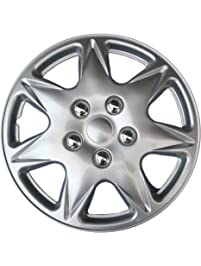 """Drive Accessories KT915-17S/L ABS Silver 17"""" Plastic Wheel Cover Hubcap - Pack of 4"""