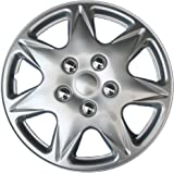 "Drive Accessories KT915-17S/L ABS Silver 17"" Plastic Wheel Cover Hubcap - Pack of 4"