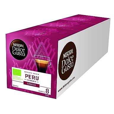 NESCAFÉ Dolce Gusto Cápsulas de Café Origen Perú, 3 Paquetes de 12 Cápsulas - Total