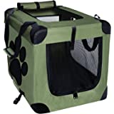EXPAWLORER Collapsible Foldable Dog Crate, Indoor/Outdoor Pet Home, Deluxe Pet Carrier