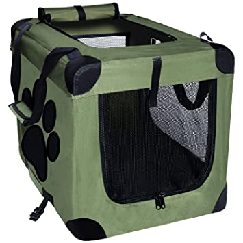 Amazon.com : EXPAWLORER Collapsible Foldable Dog Crate, Indoor ...