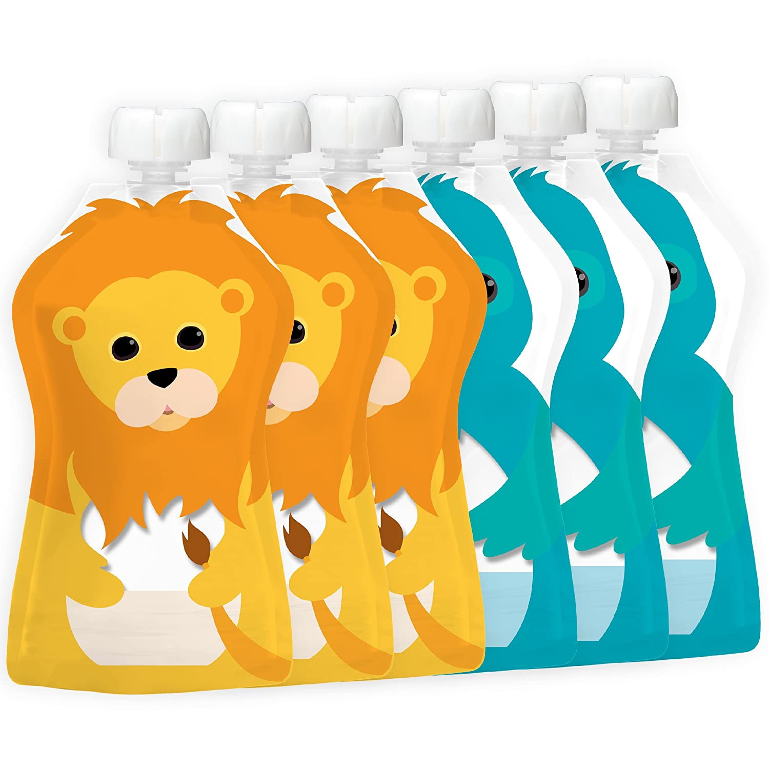 a4cd0e3b4 Squooshi Reusable Food Pouch - Small 6 Pack  Amazon.com.au  Baby