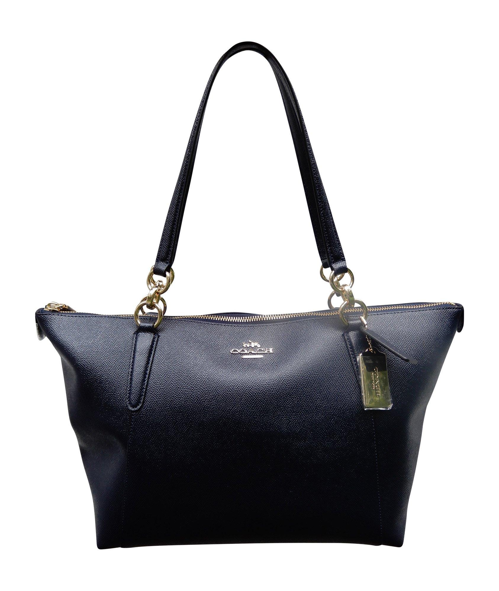Coach Crossgrain Leather AVA Tote Bag Handbag, Midnight