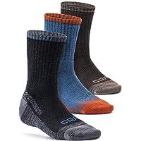 CQR (Pack of 3, 5) Men's Multi Performance Outdoor Sports Hiking Trekking Crew Socks