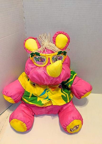 Fisher Price Puffalump plush toy stuffed animal Wild Thing pink rhino rhinoceros