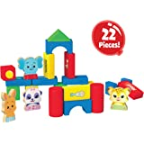 Word Party My First Building Blocks, 22 Piece Wood Set - Lulu, Bailey, Franny, Kip and 18 Blocks of Different Shapes and…