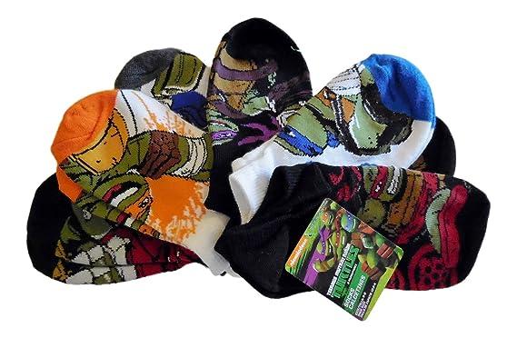 Nickelodeon Teenage Mutant Ninja Turtles Boys Socks (six pair) Size 6-8