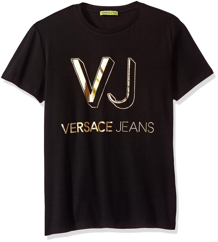 Versace Jeans ロゴTシャツ メンズ B01N6RJSUH 3L|ブラック(Nero) ブラック(Nero) 3L
