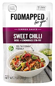 FODMAPPED - Low FODMAP Sweet Chili,Basil, Lemongrass Simmer Sauce 7 Oz (200g)