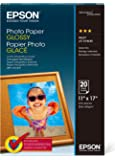 Epson S041156 Glossy Photo Paper, 52 lbs., Glossy, 11 x 17 (Pack of 20 Sheets)