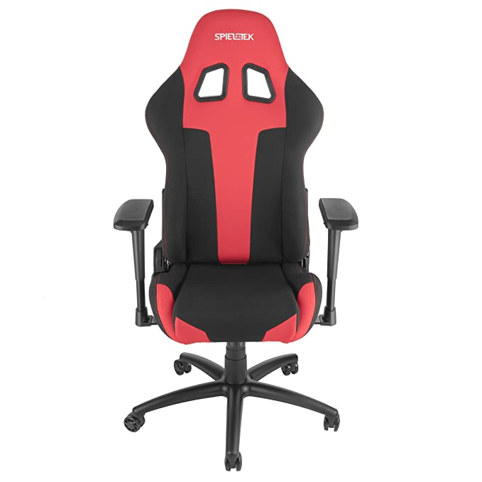 Enjoyable Amazon Com Spieltek Berserker Gaming Chair V2 Fabric Red Pdpeps Interior Chair Design Pdpepsorg