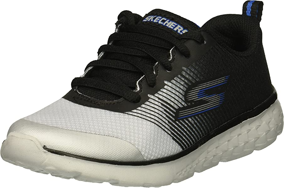 7ac39a12ecea Skechers Kids Boys  GO Run 400-FAST PACE Sneaker Black Grey 1 Medium