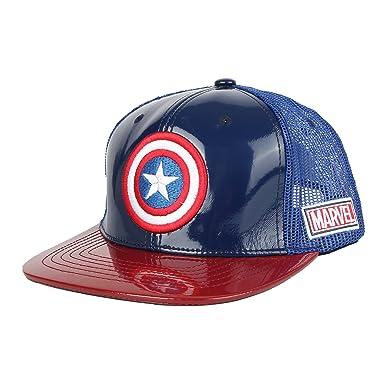 WITHMOONS Avengers Iron Man Helmet Snapback Captain America Hats Mesh Cap  Glossy AC1102P 0ab059a3ee9