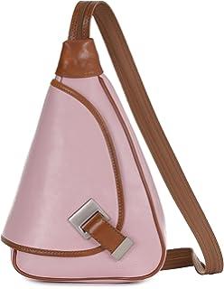 2f6e65a566 LIATALIA Small Backpack Rucksack Duffle bag in Genuine Italian Leather- MILA