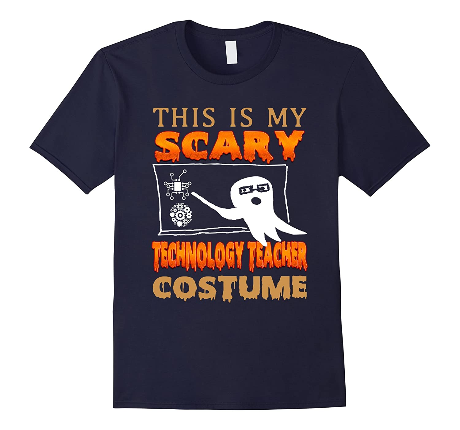 THIS IS MY SCARY TECHNOLOGY TEACHER COSTUME t shirt-FL