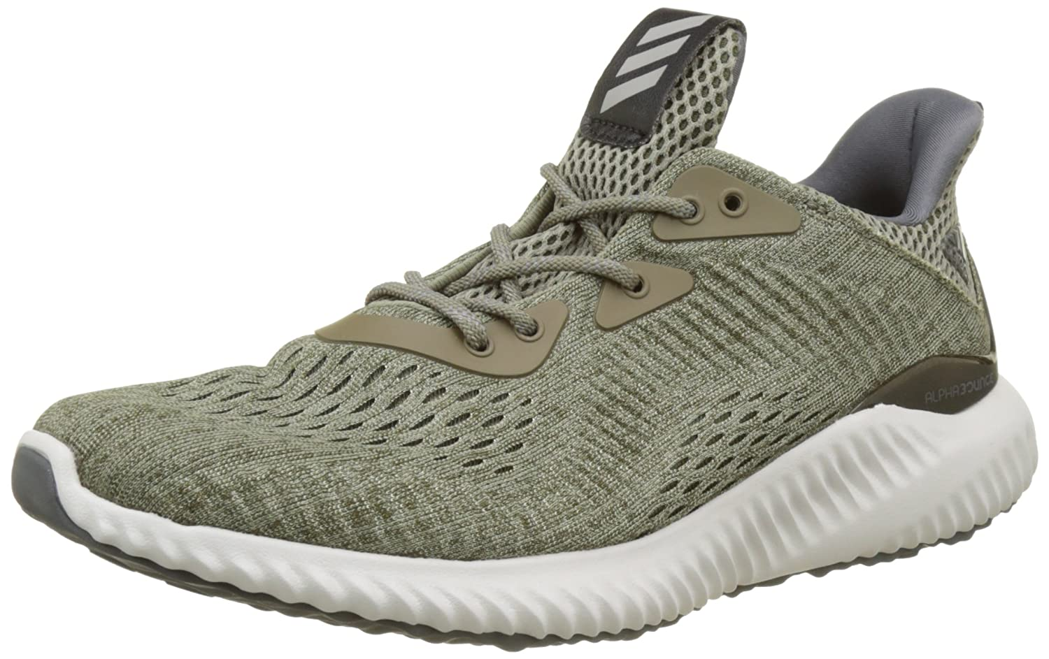 adidas Mens Shoes Running Alphabounce Engineered Mesh Training Gym B071ZGGMTJ EU 44 2/3 - UK 10 - US 10.5|Trace Olive /Trace Cargo /Grey One