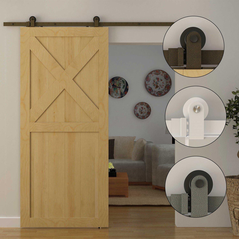 Generic NV _ 1008004600-dwx-us28 < 8 & 46001 > loset Set kitbarn madera puerta corrediza de madera de granero nueva 6 ft moderno estilo antiguo Hardware armario Set Kit Nueva 6 ft
