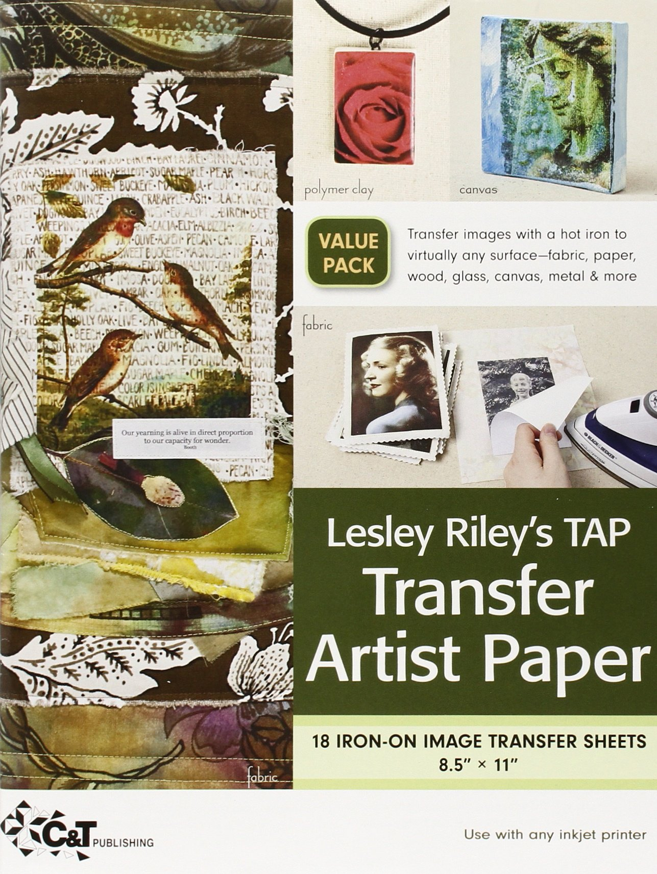 Transfer paper for wood crafts - C T Publishing Transfer Artist Paper 8 5 By 11 Inch 18 Pack Lesley Riley 9781607052548 Amazon Com Books